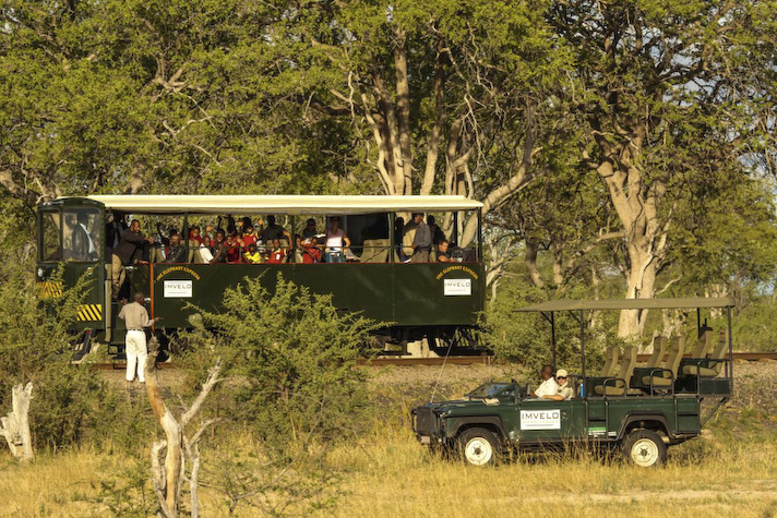 The Elephant Express in Hwange Copyright- Imvelo Safari Lodges, Zimbabwe